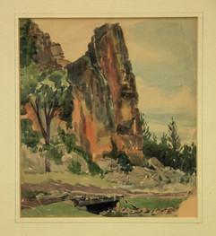 Rocky Cliff Near Gunnison