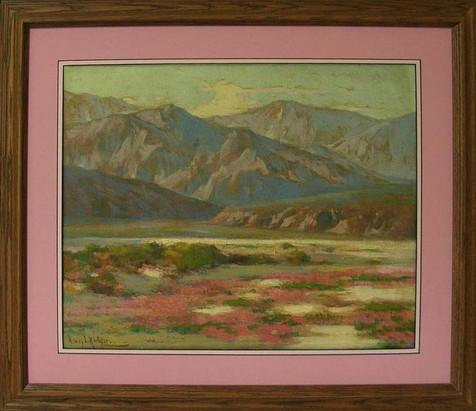 Desert Below Mountains