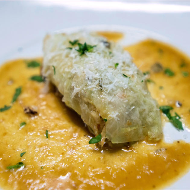 Rabbit Stuffed Cabbage