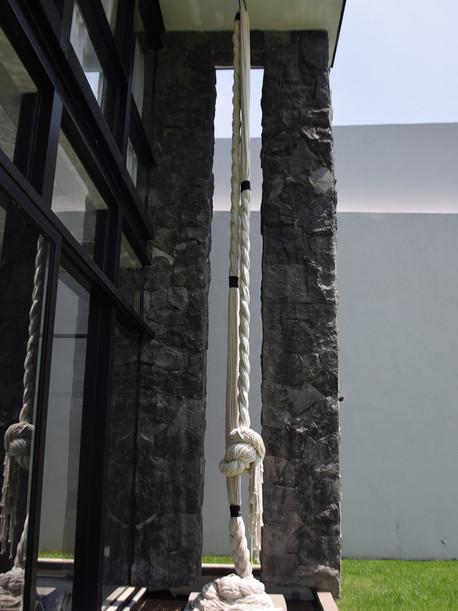 Instalacion textil: Cuerda Instalacion textil: Cuerda TrenzadaInstalación textil: Cuerda Trenzada