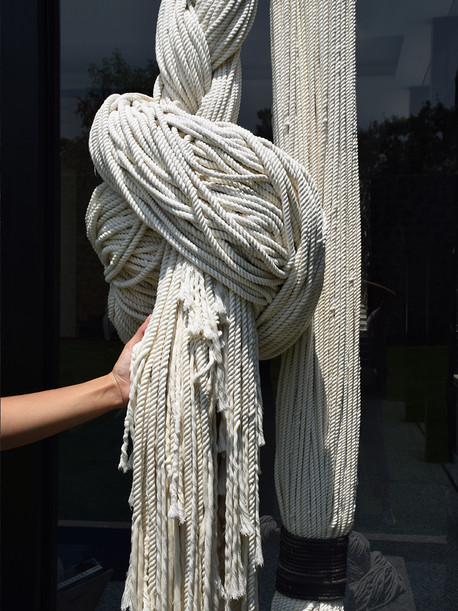 Instalacion textil: Cuerda   TexturaInstalacion textil: Cuerda TrenzadaInstalación textil: Cuerda Trenzada