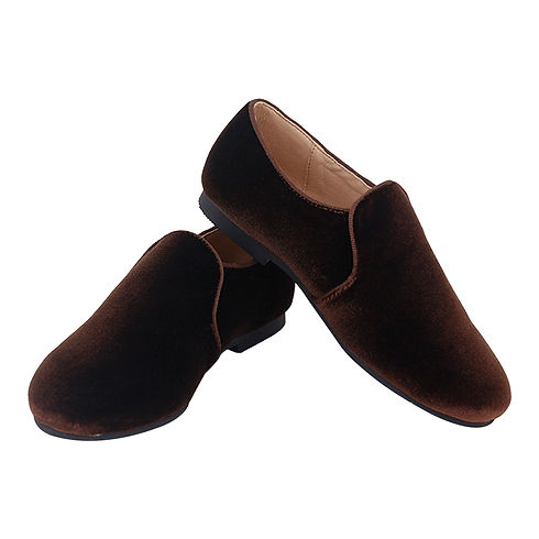 Smoking Slippers Brown Velvet Fabric-C.jpg