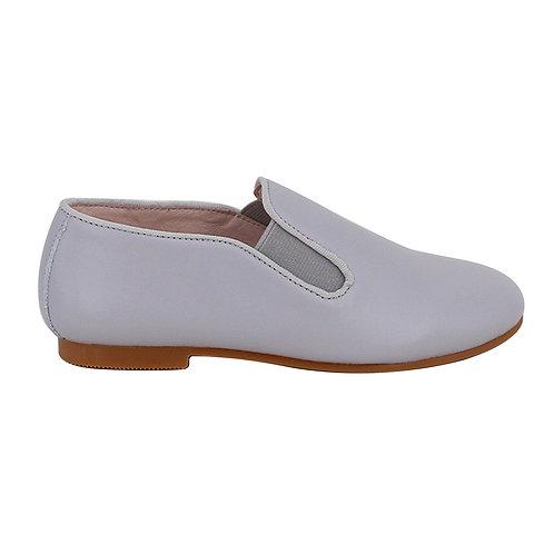 Light Grey Elastic Loafers