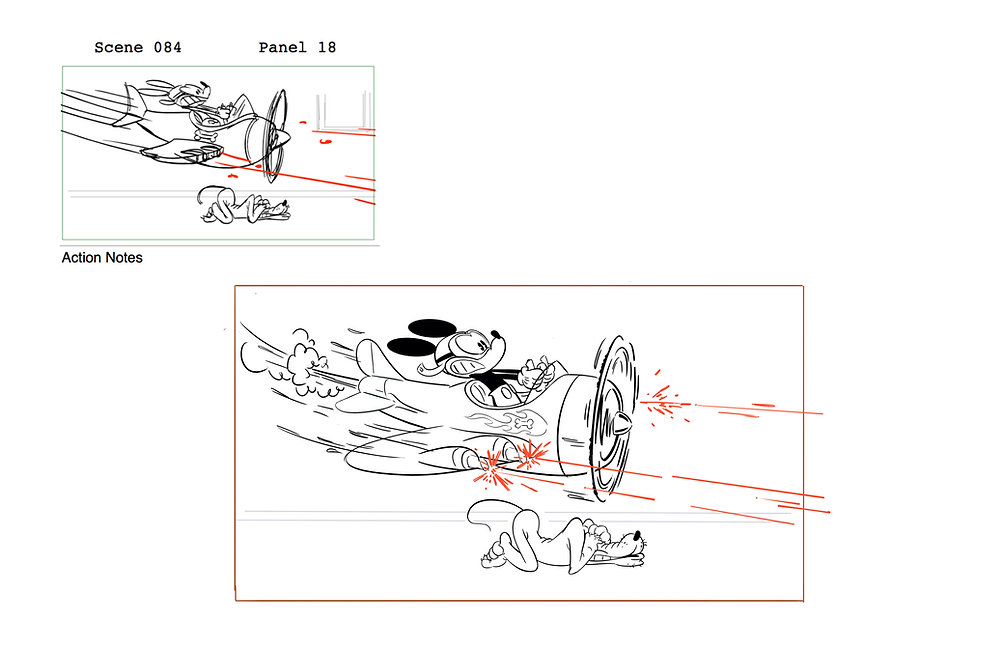 106Sc084_Mickey_Flying_Plane_Pose_2_And_