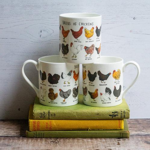 Mug - Breeds of Chickens