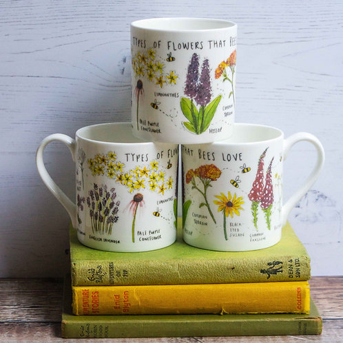 Mug - Types of Flowers that Bees Love