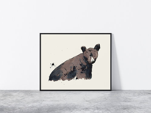 Limited Edition Brown Bear A3 Print