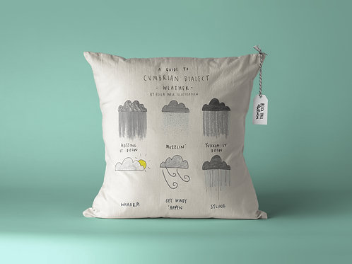 Cushion - Cumbrian Dialect Weather