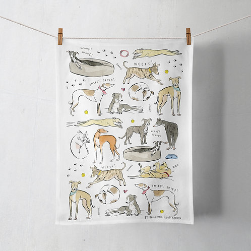 Tea Towel - Greyhound / Whippet / Lurcher