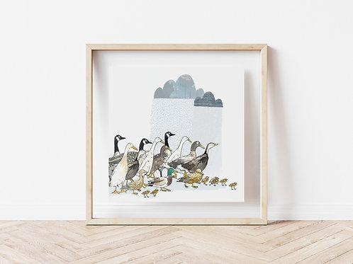 Print - Ducks & Geese
