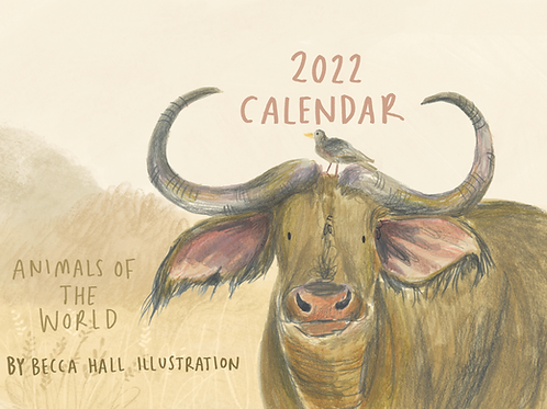 2022 Calendar - Animals of the World