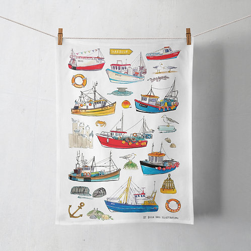 Tea Towel - Fishing Boats