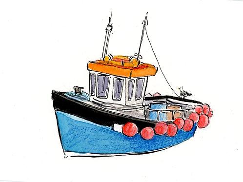 Original Artwork - Fishing Boat 1 - Unframed