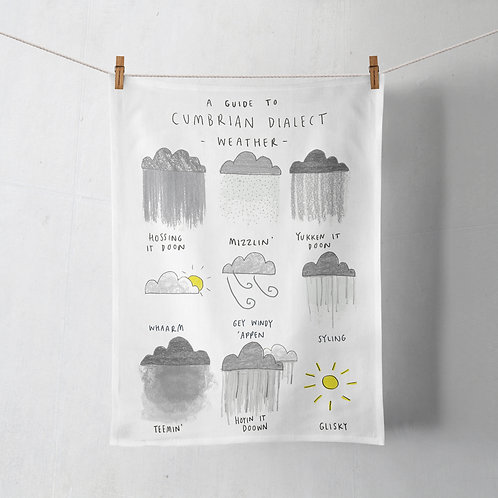 Tea Towel - Cumbrian Dialect Weather