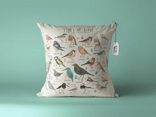Cushion - Types of Birds