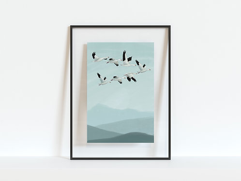 Print - Flying Geese A4