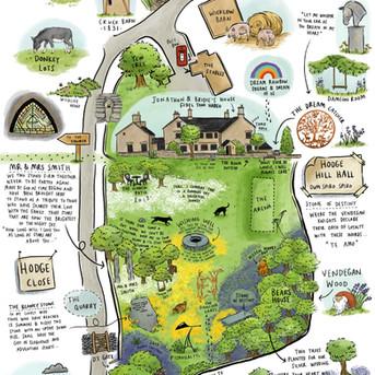 Hodge Hill Garden Map