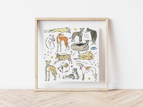 Print - Greyhounds