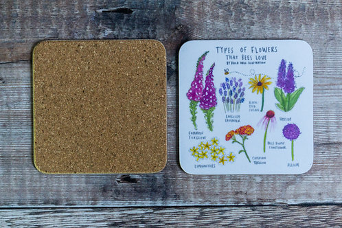 Coaster - Types of Flowers that Bees Love