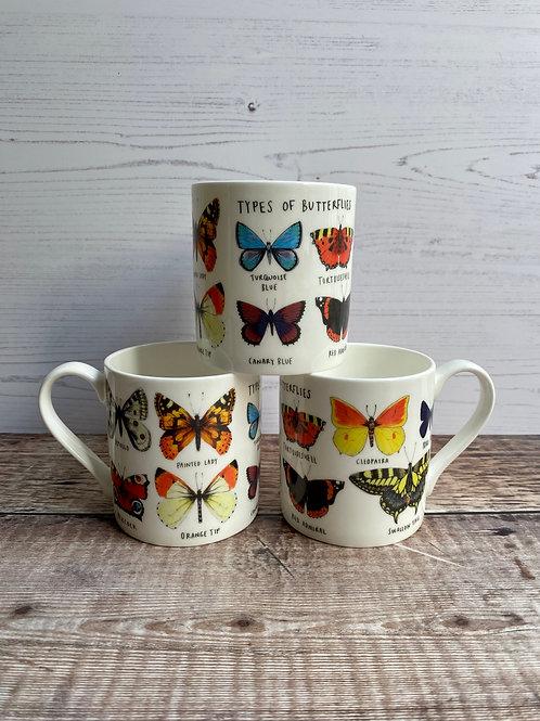 Mug - Types of Butterflies