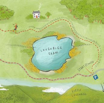 Mermaid of Loughrigg Tarn Map