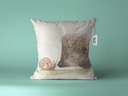 Cushion - Hedgehog & Snail