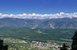 Dolomites - view from Mondela Pass