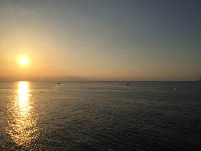 Sunrise over Tyrrhenian Sea
