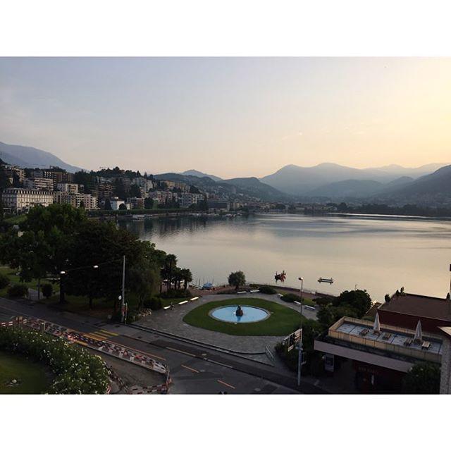 #Good #Morning #Switzerland #Lugano last #weekend during #SwissHarleyDays2015 #amazing #atmosphere w