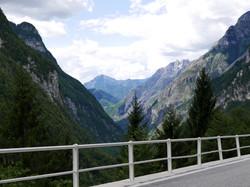 View from Sella Nevea Pass