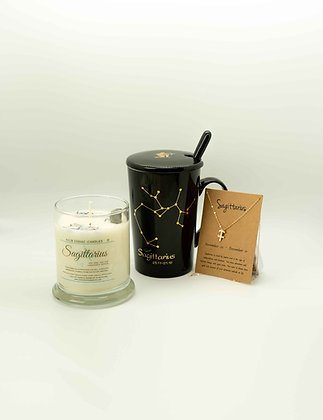 Sagittarius ♐️ Zodiac Gift Set, Sagittarius Cup, Zodiac Candle, Sagittarius Gift