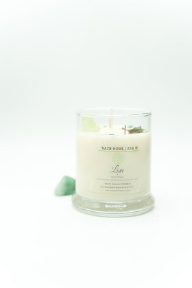 Love Candle with Green Calcite Crystal (Heart Chakra)