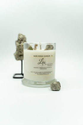 Leo ♌️ Zodiac Candle with Pyrite