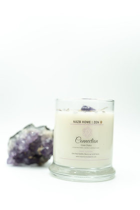 Connection Candle with Amethyst Crystal (Crown Chakra)