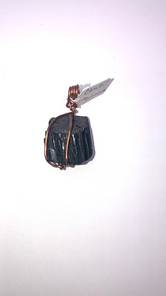 Black Tourmaline (Rough) Charm