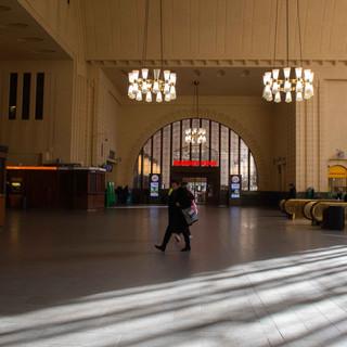 Myös rautatieasemalla oli hiljaista.