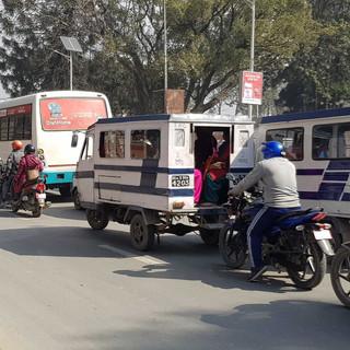 Traffinc jam. Kathmandu