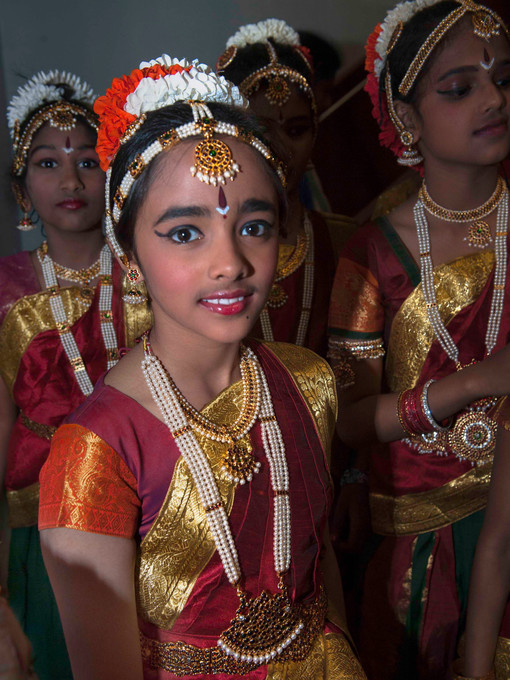 Member of the dance group in India Day event