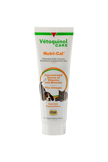 Vetoquinol Nutri-Cal Nutrical Oral Gel 4.25oz cats dogs High Calorie Supplement