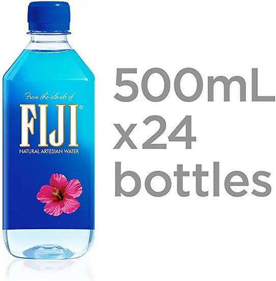 FIJI Natural Artesian Water, 16.9 Fl Ounce Bottle (Pack of 24)