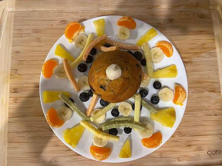 Organic Blueberry Muffin with Fruits