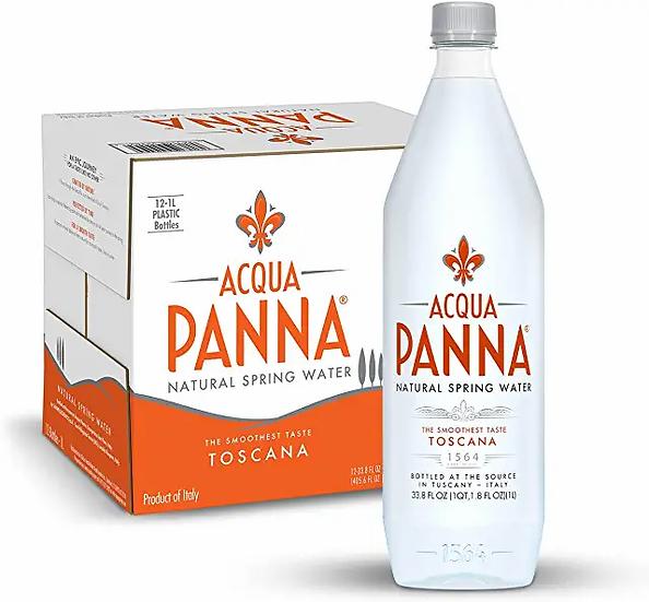 Acqua Panna Natural Spring Water, 33.8 Oz Plastic Bottles (12 Pack), 33.8 Fl Oz