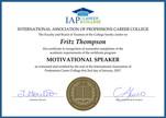 IAP Motivational Speaker