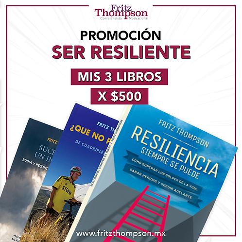 Promoción Ser Resiliente - Mis 3 libros