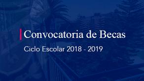Convocatoria de Becas  2018 - 2019