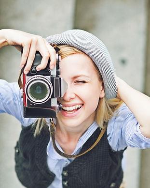 Mädchen, die ein Foto