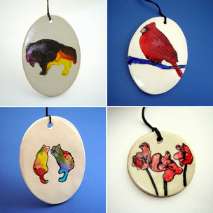 Collection of Alcohol ink ornaments