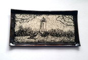 Lighthouse Sgraffito Tray