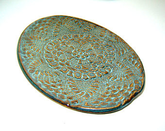 Lace Oval Pottery Plate