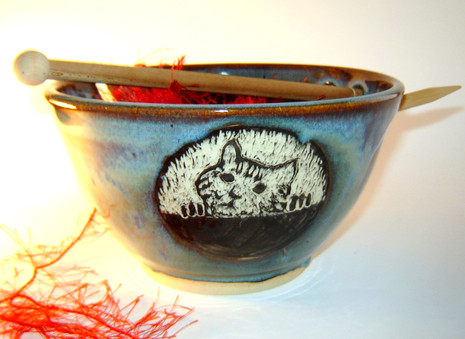 Tabby Kitten Yarn Bowl